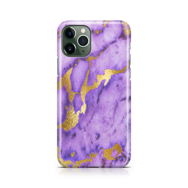 Gold Purple Marble II - iPhone