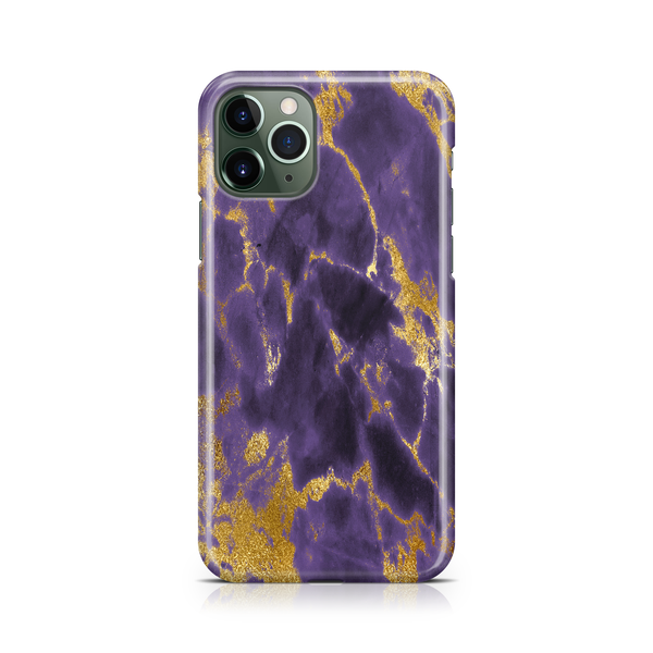 Gold Purple Marble I - iPhone