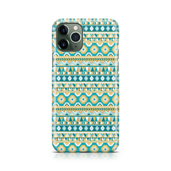 Gold & Teal Aztec I - iPhone