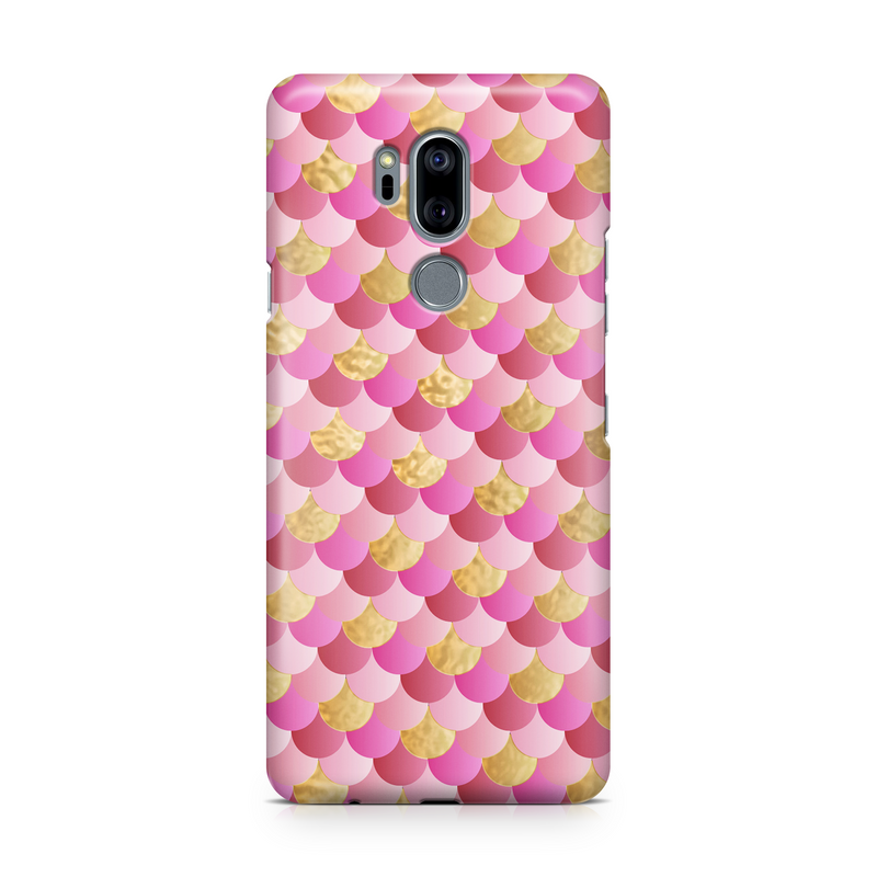 Pink & Gold Mermaid Scale - Google, LG, OnePlus