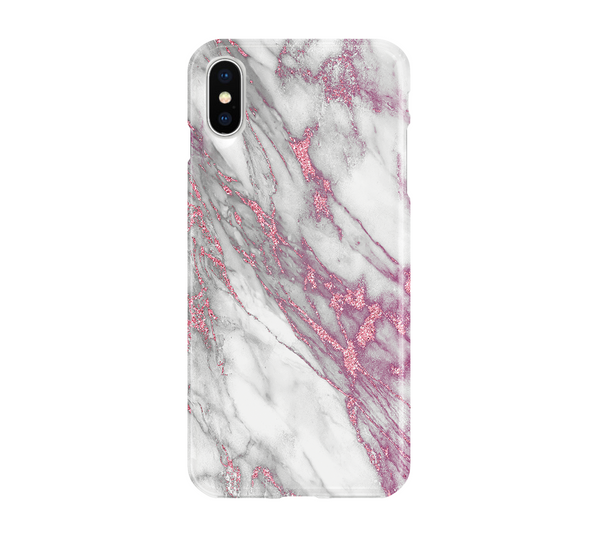 Pink & White Marble - iPhone