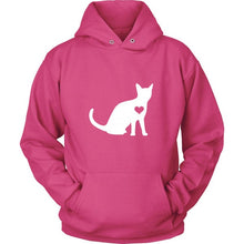 Load image into Gallery viewer, Heart Your Cat Hoodie