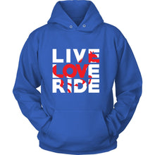 Load image into Gallery viewer, Live Love Ride Hoodie