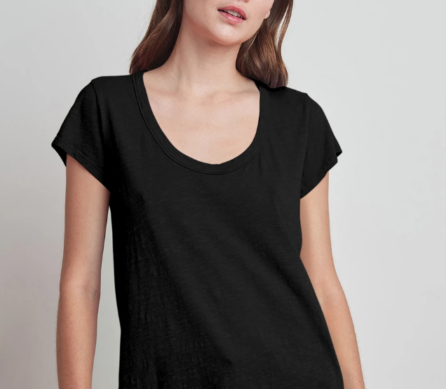 Velvet Slub Scoop Neck