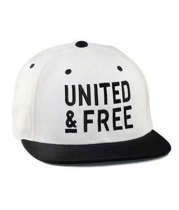 White OG Snapback Baseball Hat UNITED & FREE Natural Skincare