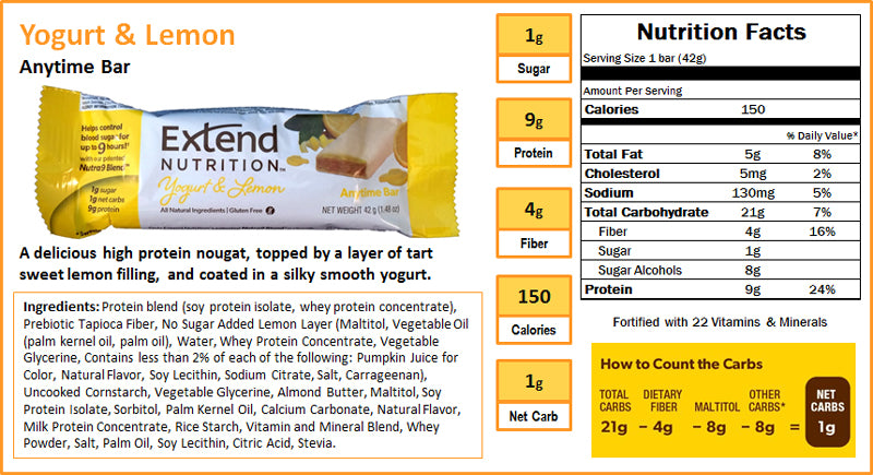 Yogurt & Lemon Nutrition Facts