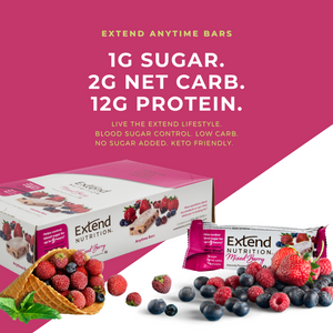 12g Protein, 1g Sugar, 2g Net Carbs. Low Carb & Low Calorie Mixed Berry Protein Bars.