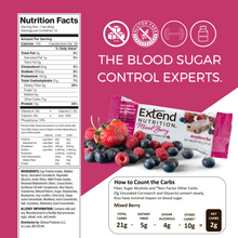 Load image into Gallery viewer, Mixed Berry Protein Bars Nutrition Facts