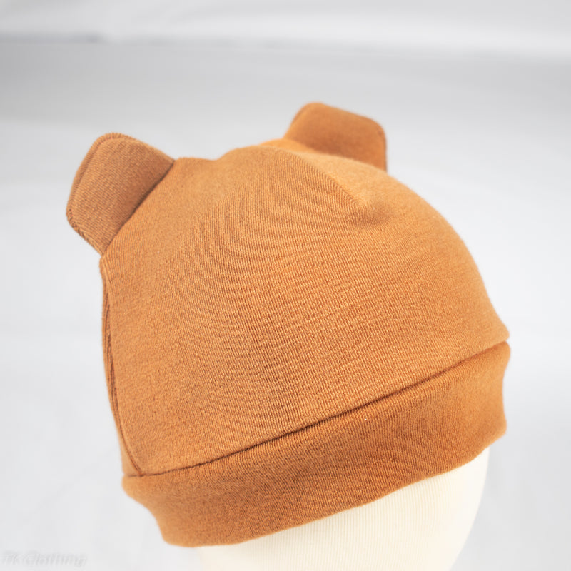 Felted Organic Merino Winter Bear Hat