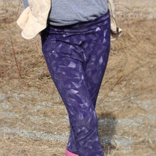 Baby & kids merino wool leggings - in amethyst