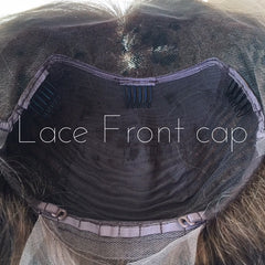 Image showing lace front of silk cap.