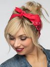 Clutch Non-Slip Bandana Syle  Headband (Red)