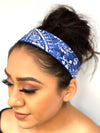 "Blue Porcelain Print 2"" Headband"