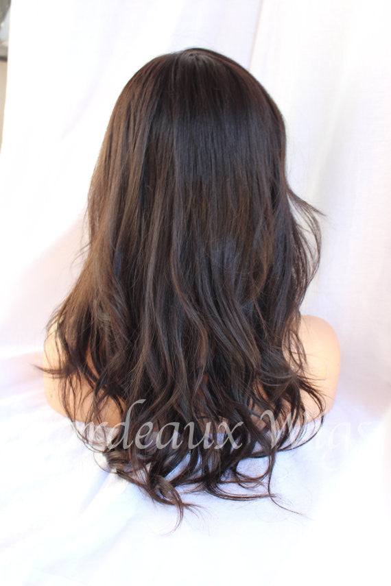 Color 1b Full Lace Silk Top 100% Human Remy Wig at Gardeaux Wigs