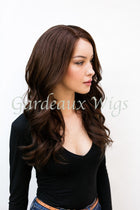 Color 3 Full Lace Silk Top 100% Human Remy Hair Wig at Gardeaux Wigs