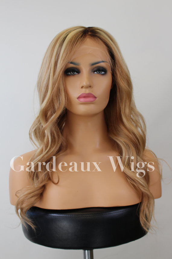 Full lace Silk Top 613/27 rooted 100% Human Remy Hair at Gardeaux Wigs