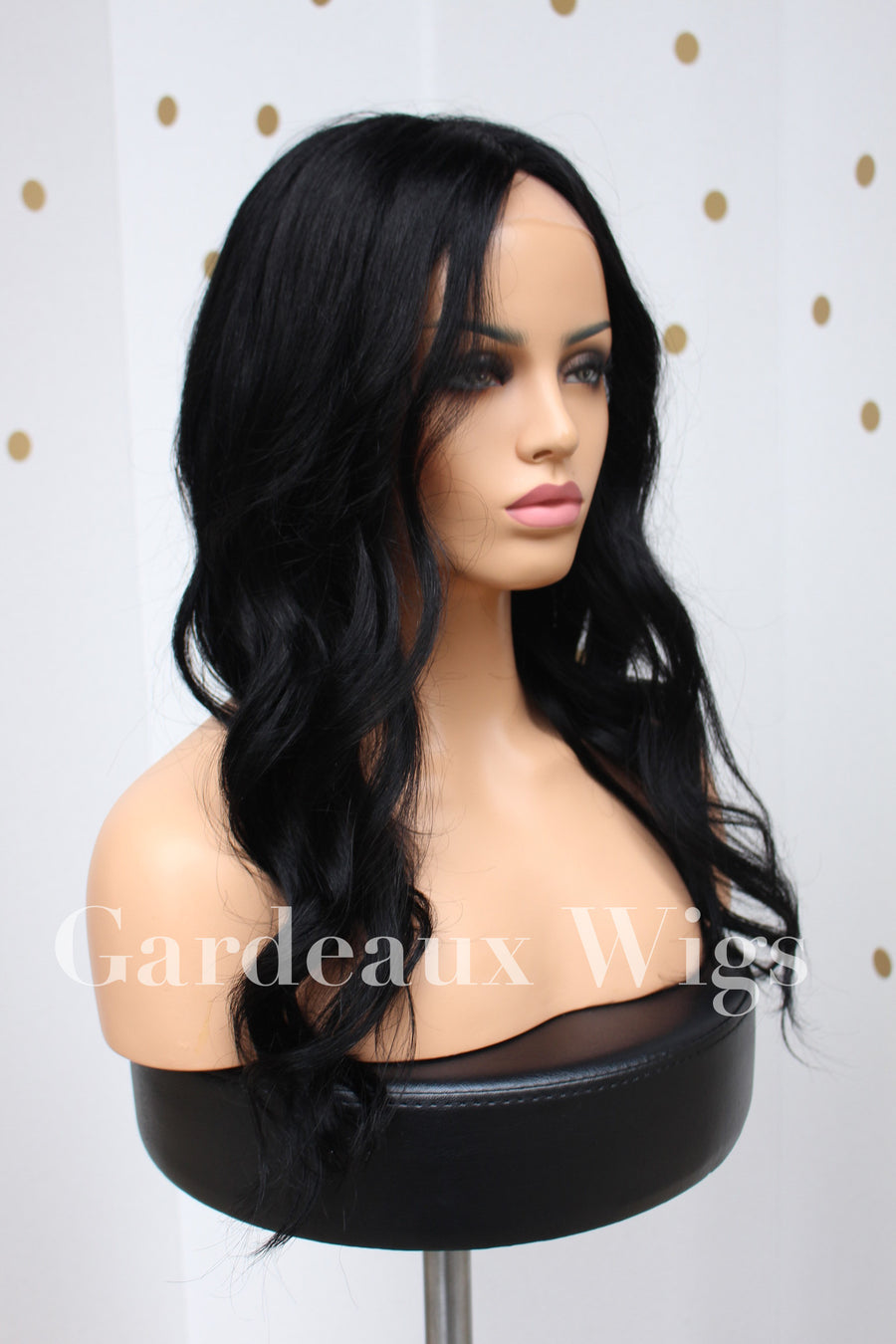 Color 1 Black Full lace Silk top 100% Human Hair Wig at Gardeaux Wigs