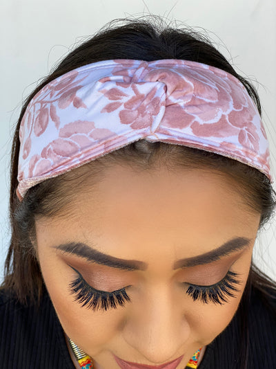 Knotted Desert Rose Floral Headband
