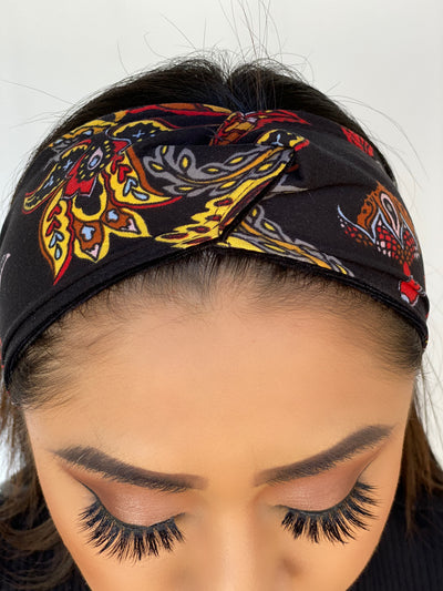 Clutch  Non-Slip Paisley Knotted Headband