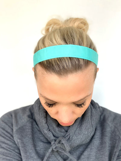 Aqua Ribbon Headband