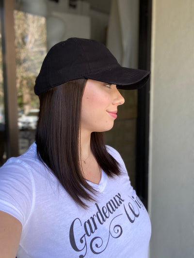 Dark Brown Human Hair Hat