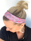 "Clutch Fitness 2"" Headband (Pink and Grey)"