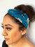 Knotted Teal Floral Print Headband