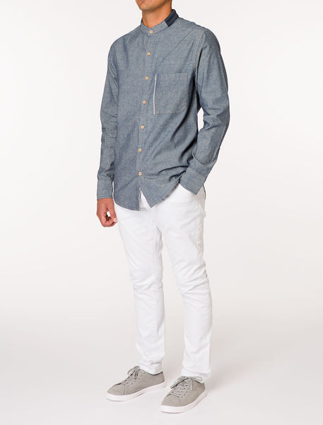 HUX Selvage Hem Denim Shirt
