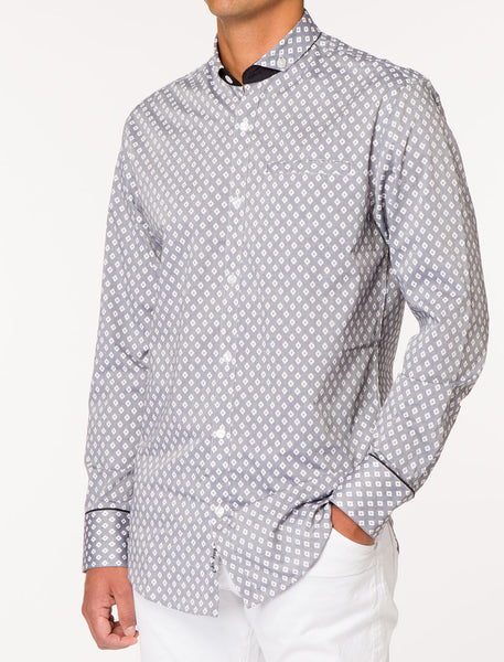 TYPHO Printed Long Sleeve Woven Shirt