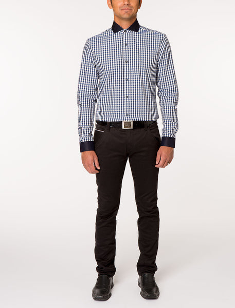 BINKS Classic Long Sleeve Woven Plaid Shirt