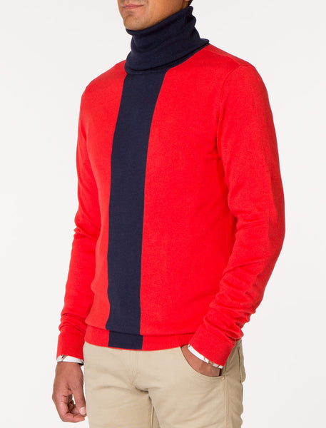 MUEL Color Blocked Turtleneck Sweater Knit