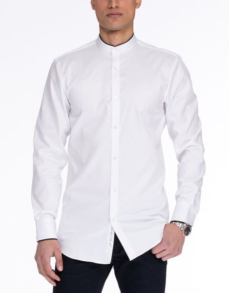 FRED Long Sleeve Woven White Shirt