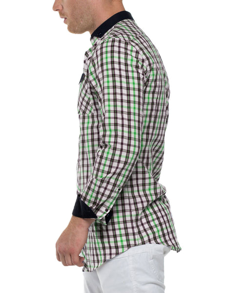 GRANT Long Sleeve Plaid Shirt