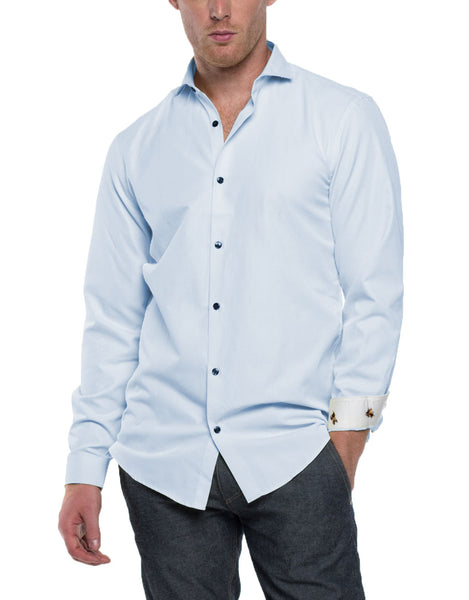 HANK Long Sleeve Solid Shirt