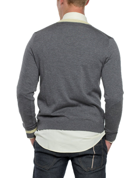 LED  Long Sleeve V-Neck Sweater