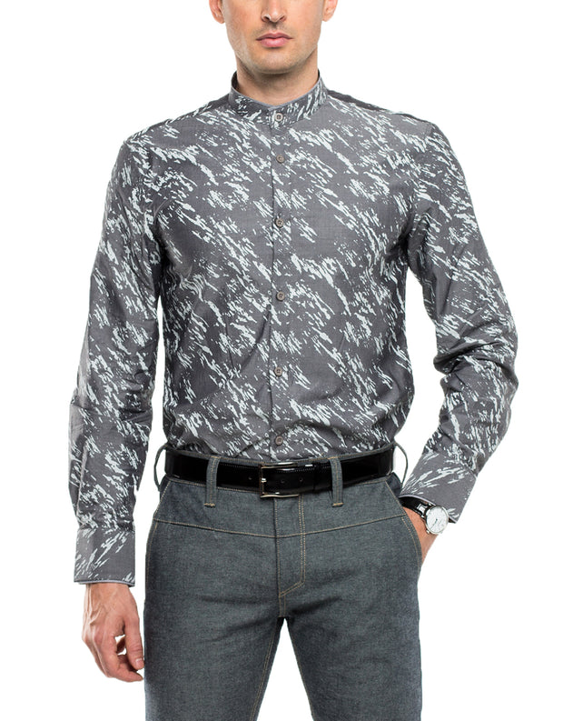 SAMUEL Long Sleeve Print Shirt