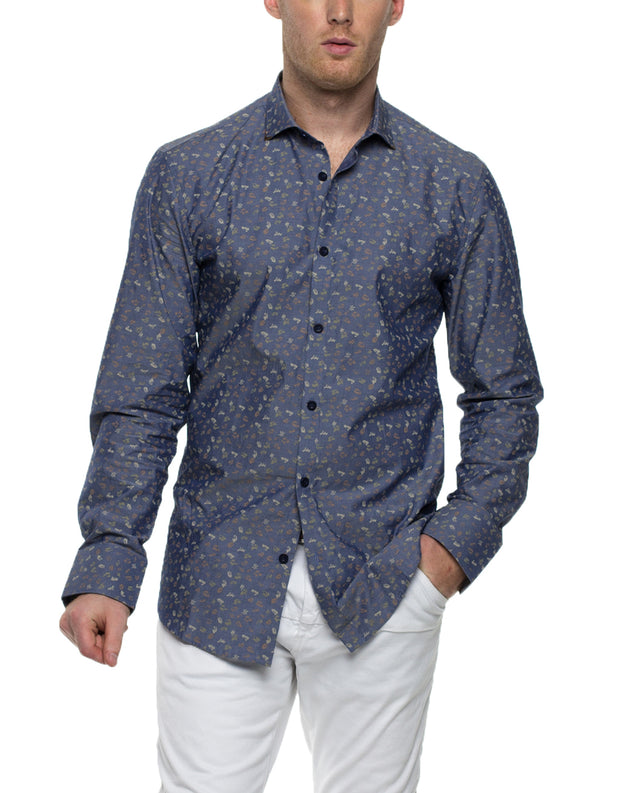 TIM Long Sleeve Print Shirt