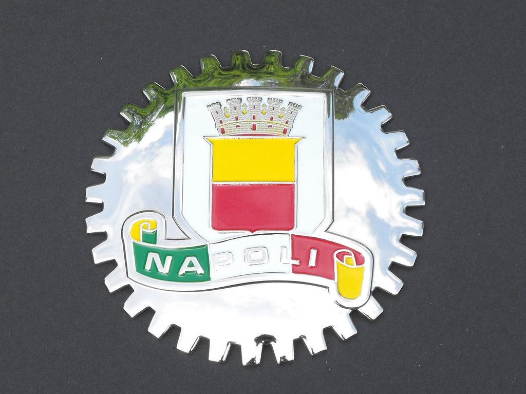 NAPOLI ITALY COAT OF ARMS CAR GRILLE BADGE EMBLEM