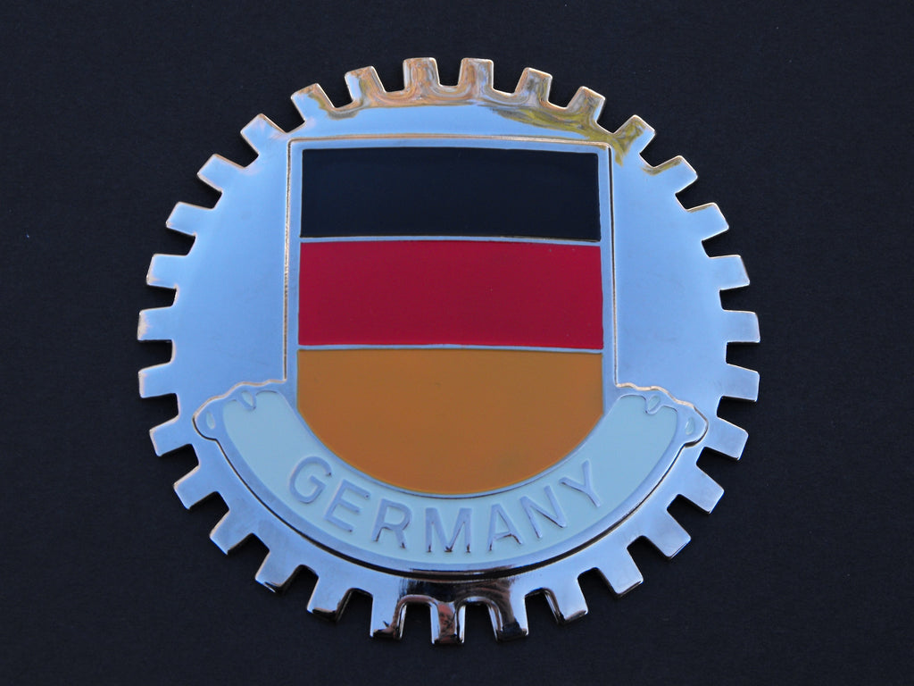 GERMAN FLAG CAR GRILLE BADGE EMBLEM