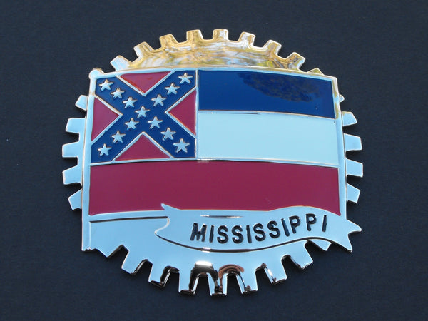 MISSISSIPPI STATE FLAG CAR TRUCK GRILLE BADGE EMBLEM