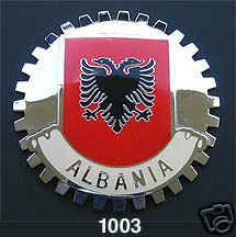 ALBANIAN FLAG GRILLE BADGE ALBANIA
