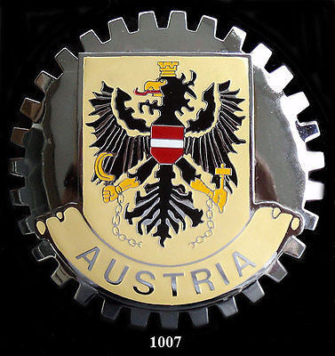 AUSTRIAN COAT OF ARMS CREST CAR GRILLE BADGE EMBLEM