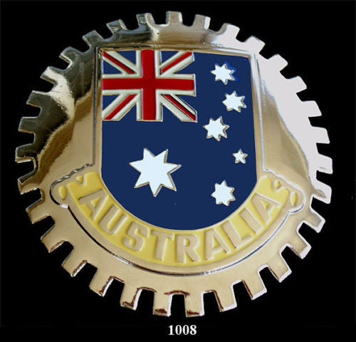 AUSTRALIAN FLAG CAR GRILLE BADGE EMBLEM AUSTRALIA