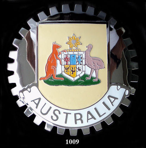 AUSTRALIAN COAT OF ARMS CAR GRILLE BADGE EMBLEM