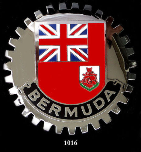 FLAG OF BERMUDA AUTOMOBILE GRILLE BADGE EMBLEM