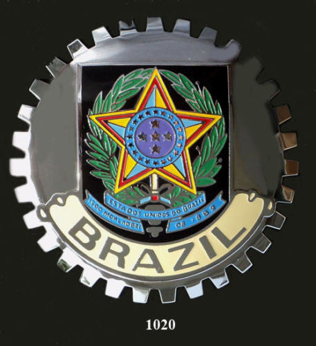 BRAZIL COAT OF ARMS CREST BADGE EMBLEM