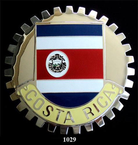 COSTA RICA FLAG CAR GRILLE BADGE EMBLEM