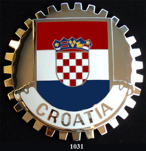 FLAG OF CROATIA CAR GRILLE BADGE EMBLEM