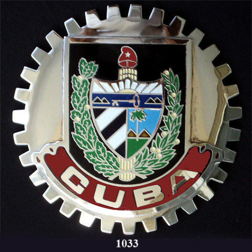 CUBAN COAT OF ARMS CREST CAR BADGE EMBLEM