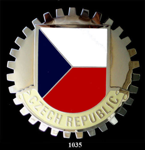 CZECH REPUBLIC FLAG CAR GRILLE BADGE EMBLEM